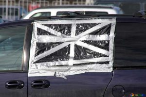 how to cover broken car window